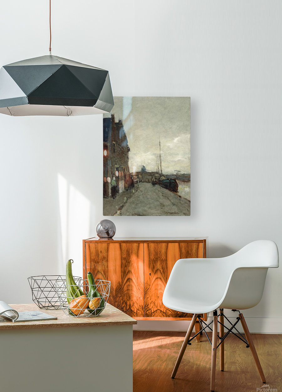 A View on Het Spaarne, Haarlem  HD Metal print with Floating Frame on Back