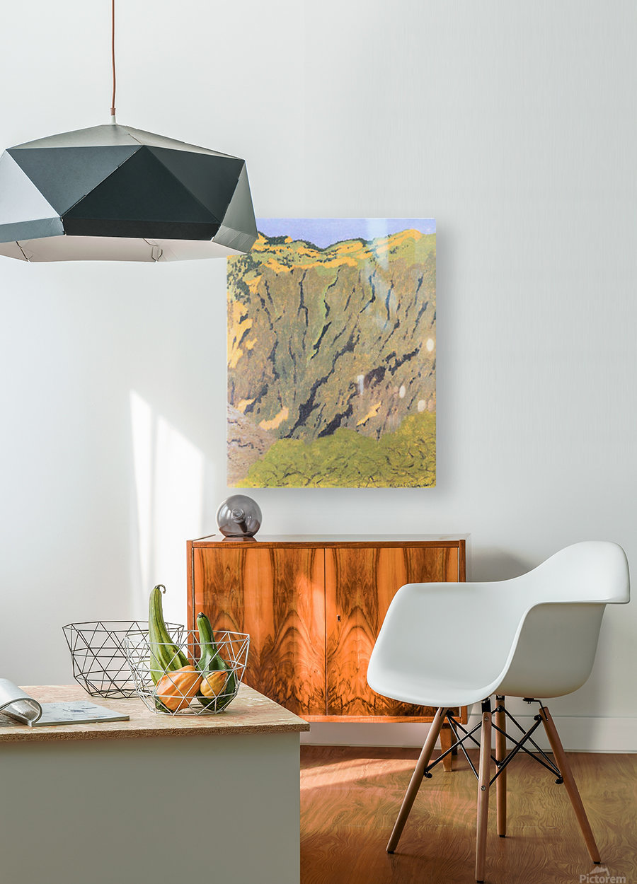 Cliffs by Felix Vallotton  HD Metal print with Floating Frame on Back