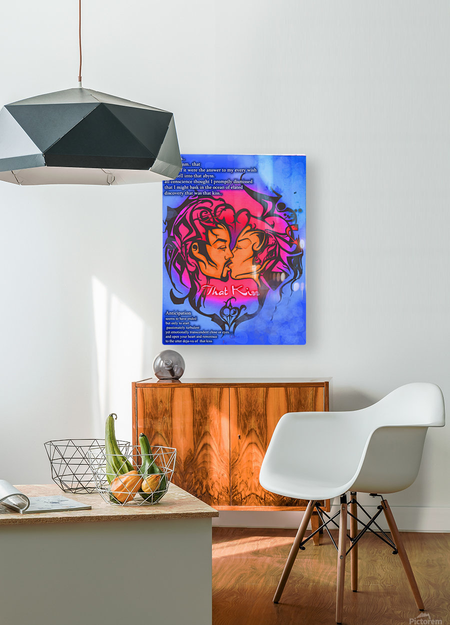 that kiss  HD Metal print with Floating Frame on Back