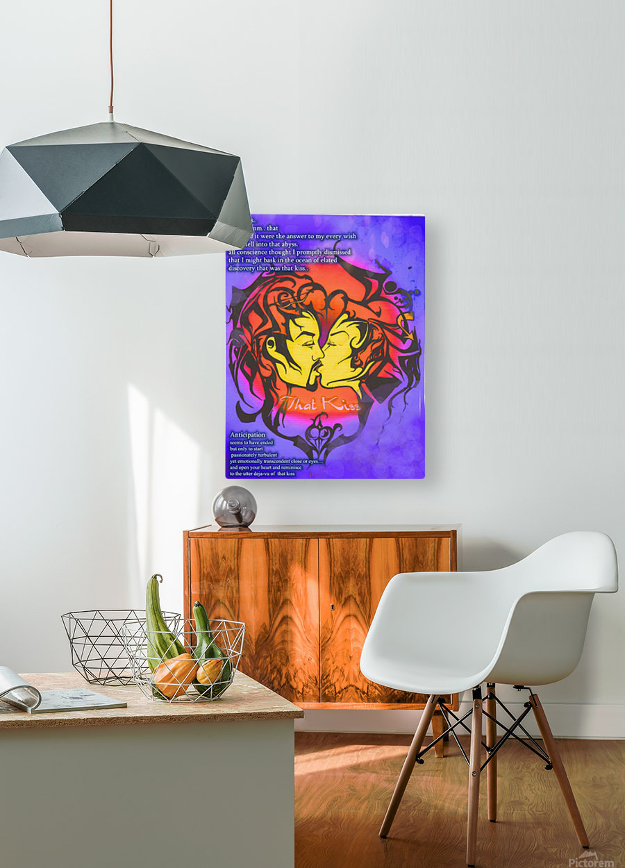 that kiss2  HD Metal print with Floating Frame on Back