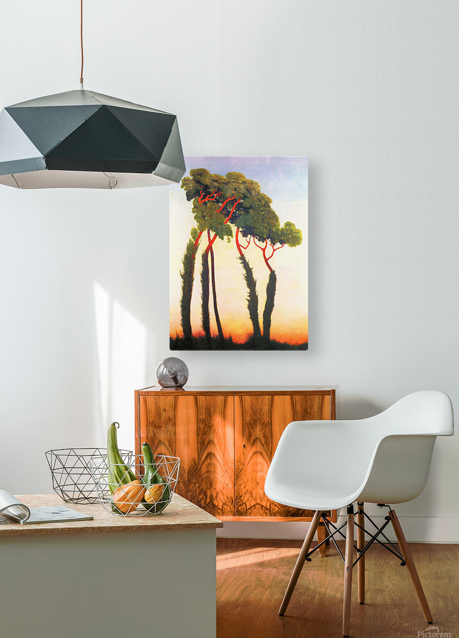 Five Trees by Felix Vallotton  HD Metal print with Floating Frame on Back