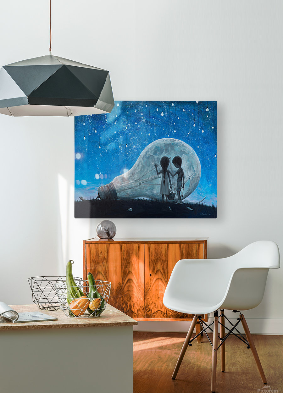 The Night We Broke The Moon  HD Metal print with Floating Frame on Back