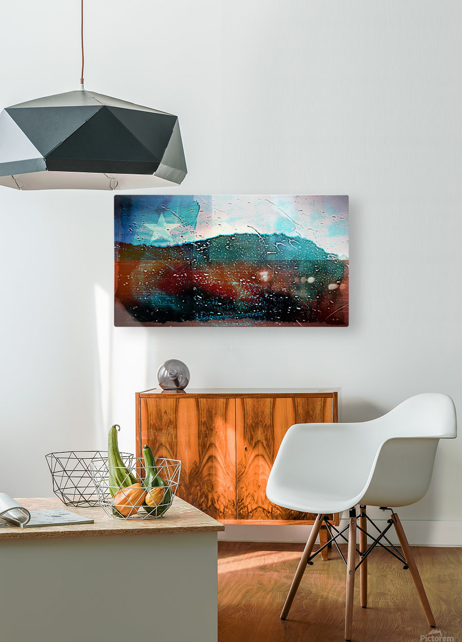 rainwindowflag  HD Metal print with Floating Frame on Back