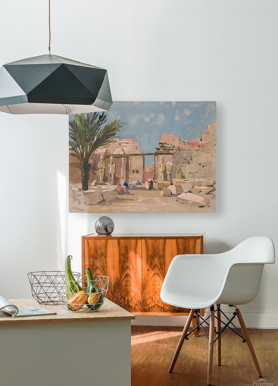Luxor  HD Metal print with Floating Frame on Back