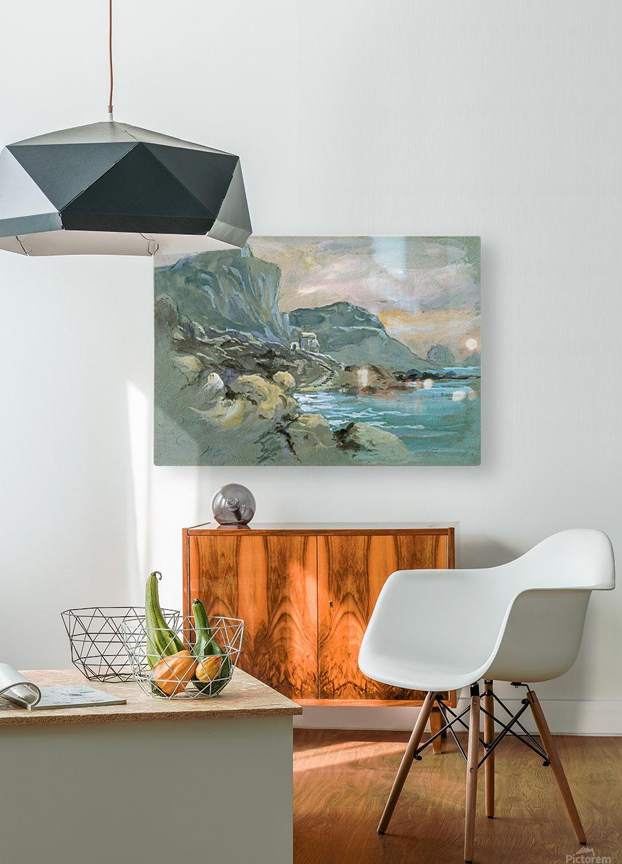 Capri  HD Metal print with Floating Frame on Back