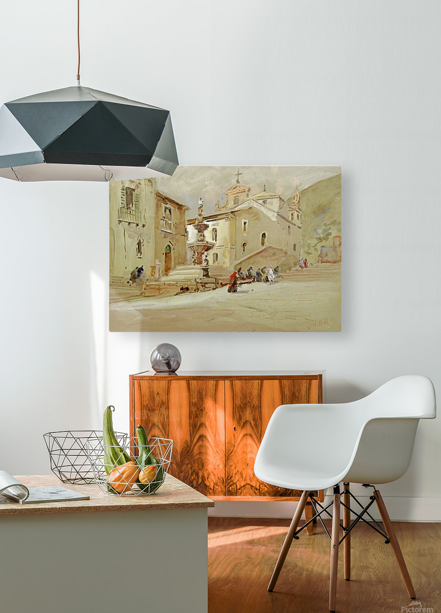 The Fountain, Taormina  HD Metal print with Floating Frame on Back