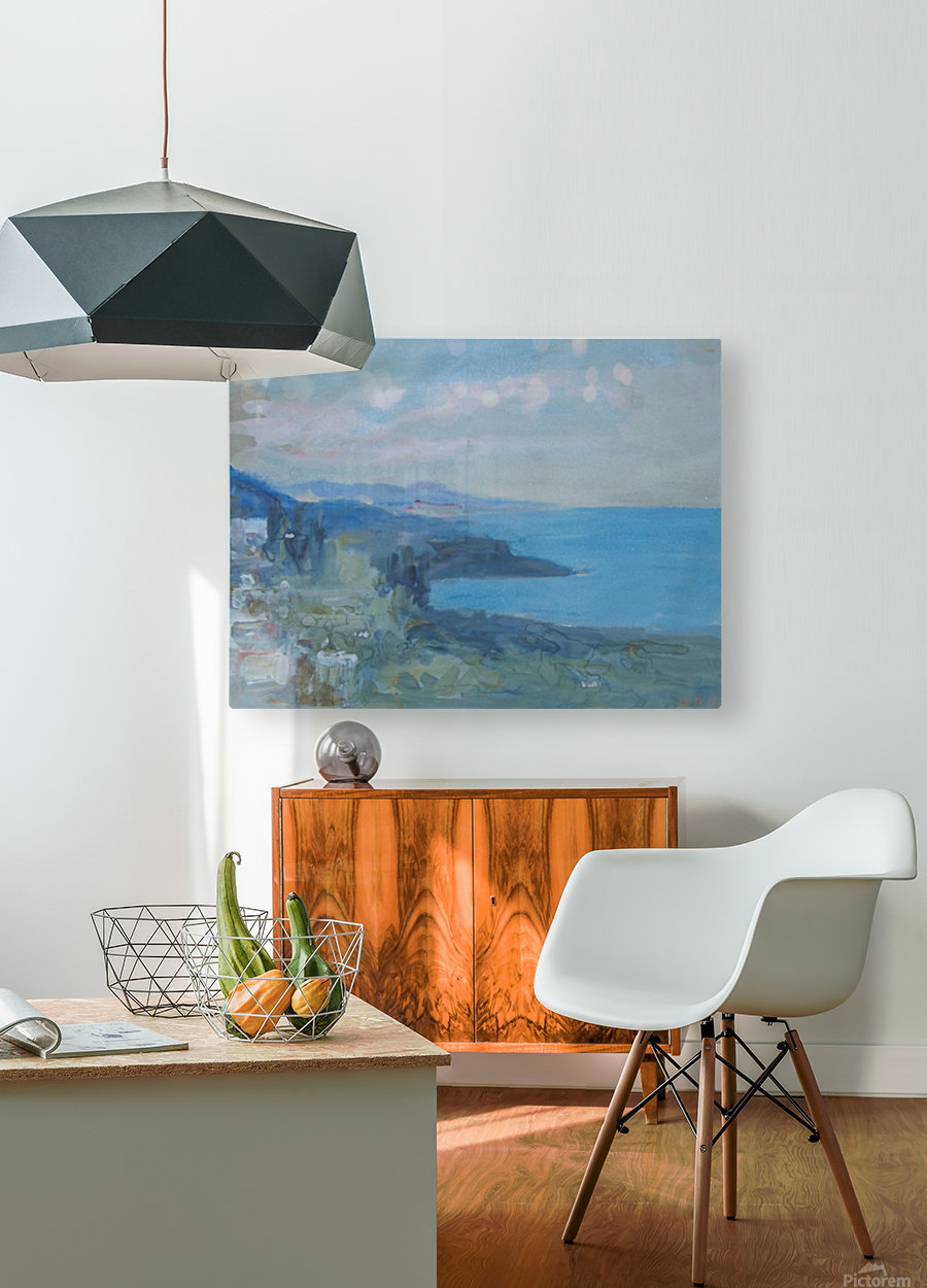On the Riviera, France  HD Metal print with Floating Frame on Back