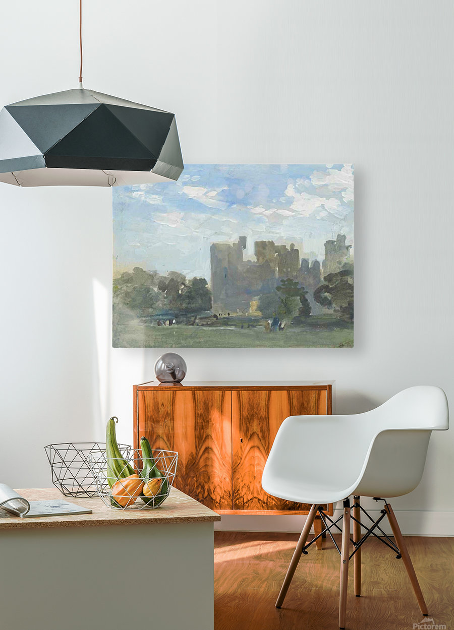 A moated castle  HD Metal print with Floating Frame on Back