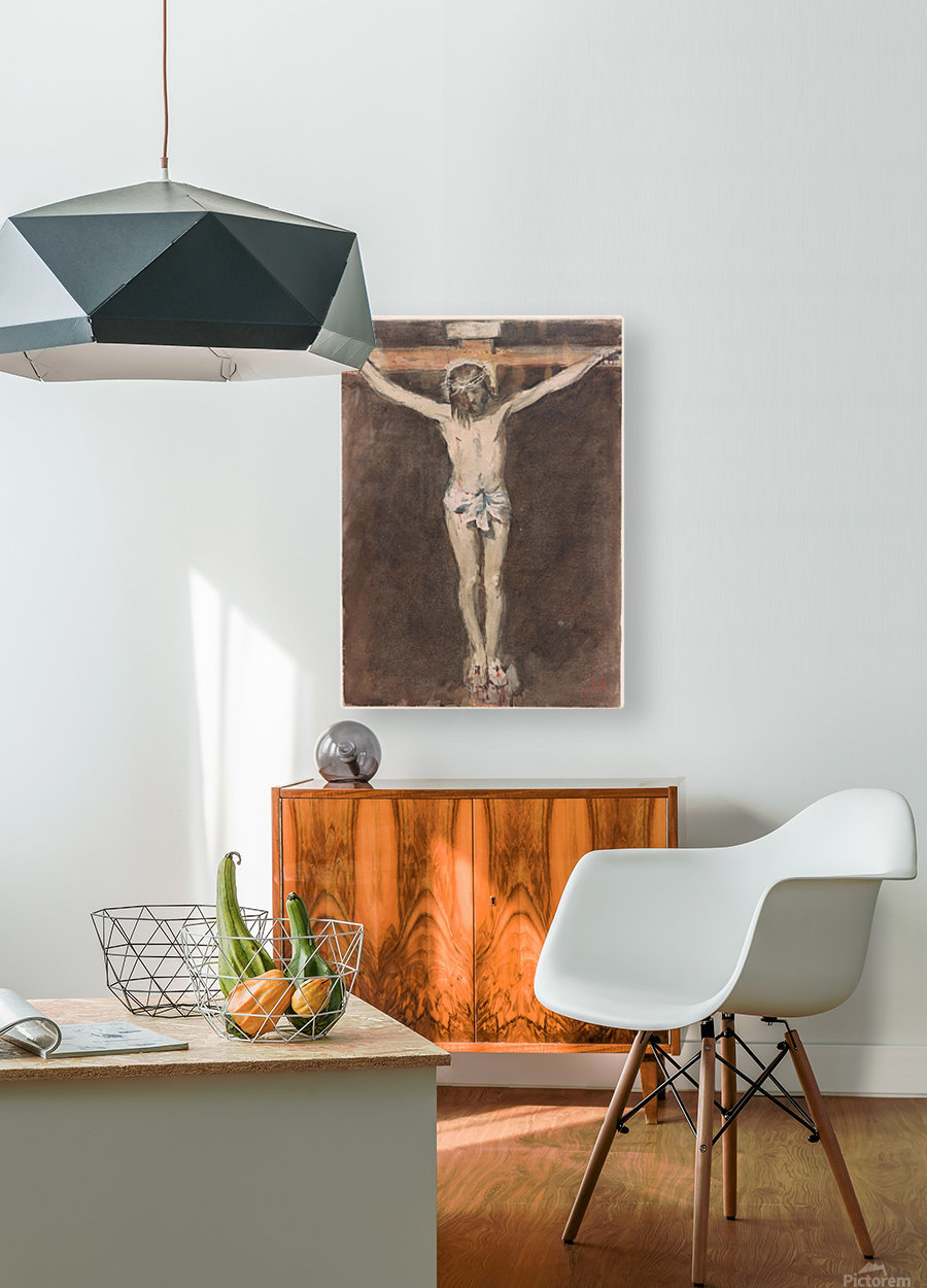 Christ on the Cross  HD Metal print with Floating Frame on Back