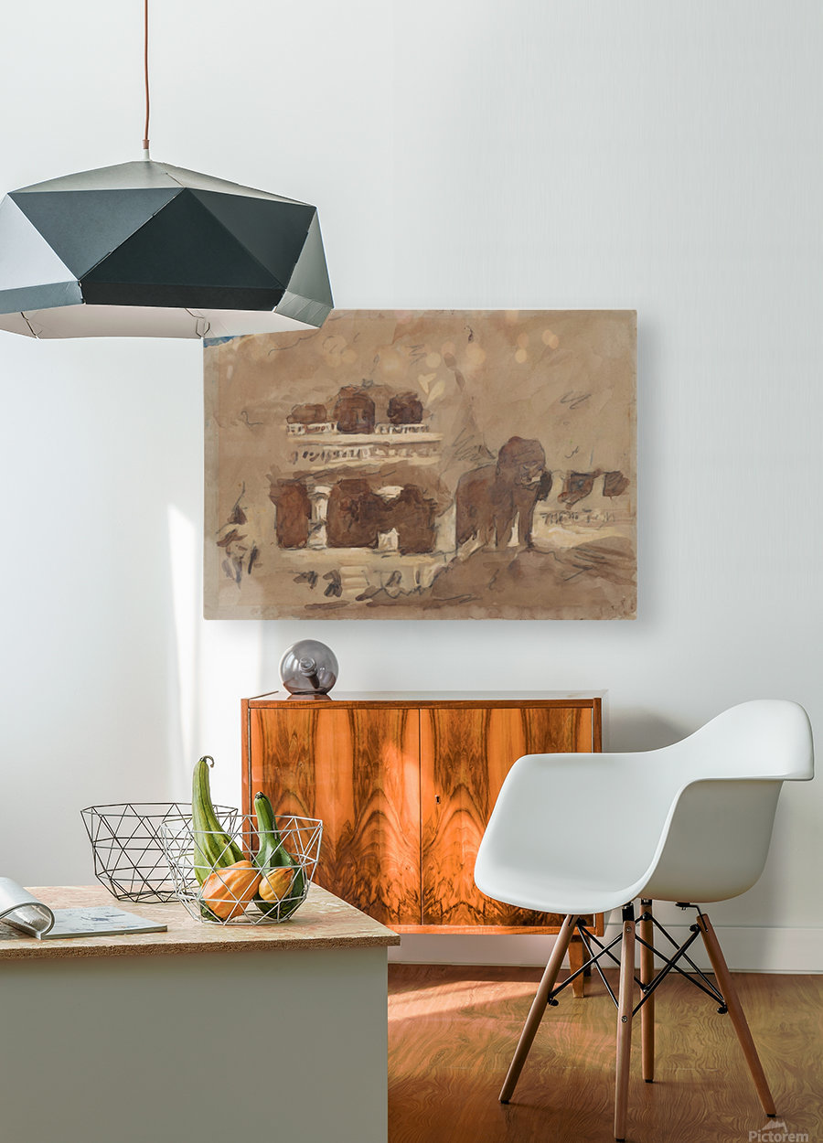 Ellora  HD Metal print with Floating Frame on Back
