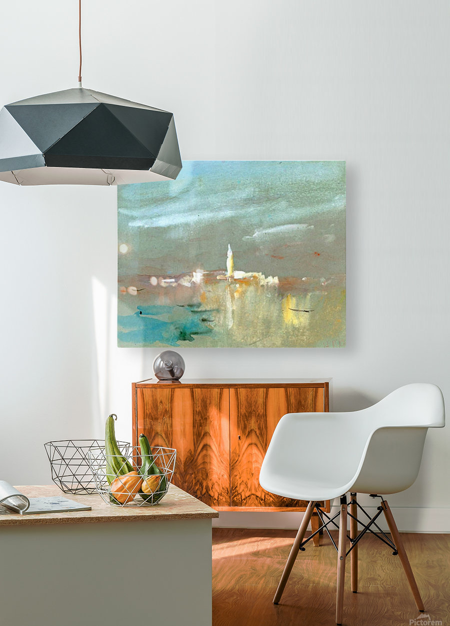 Burano, near Venice  HD Metal print with Floating Frame on Back