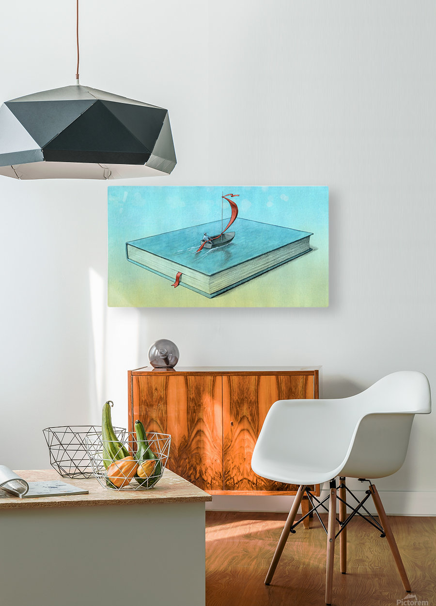life  HD Metal print with Floating Frame on Back