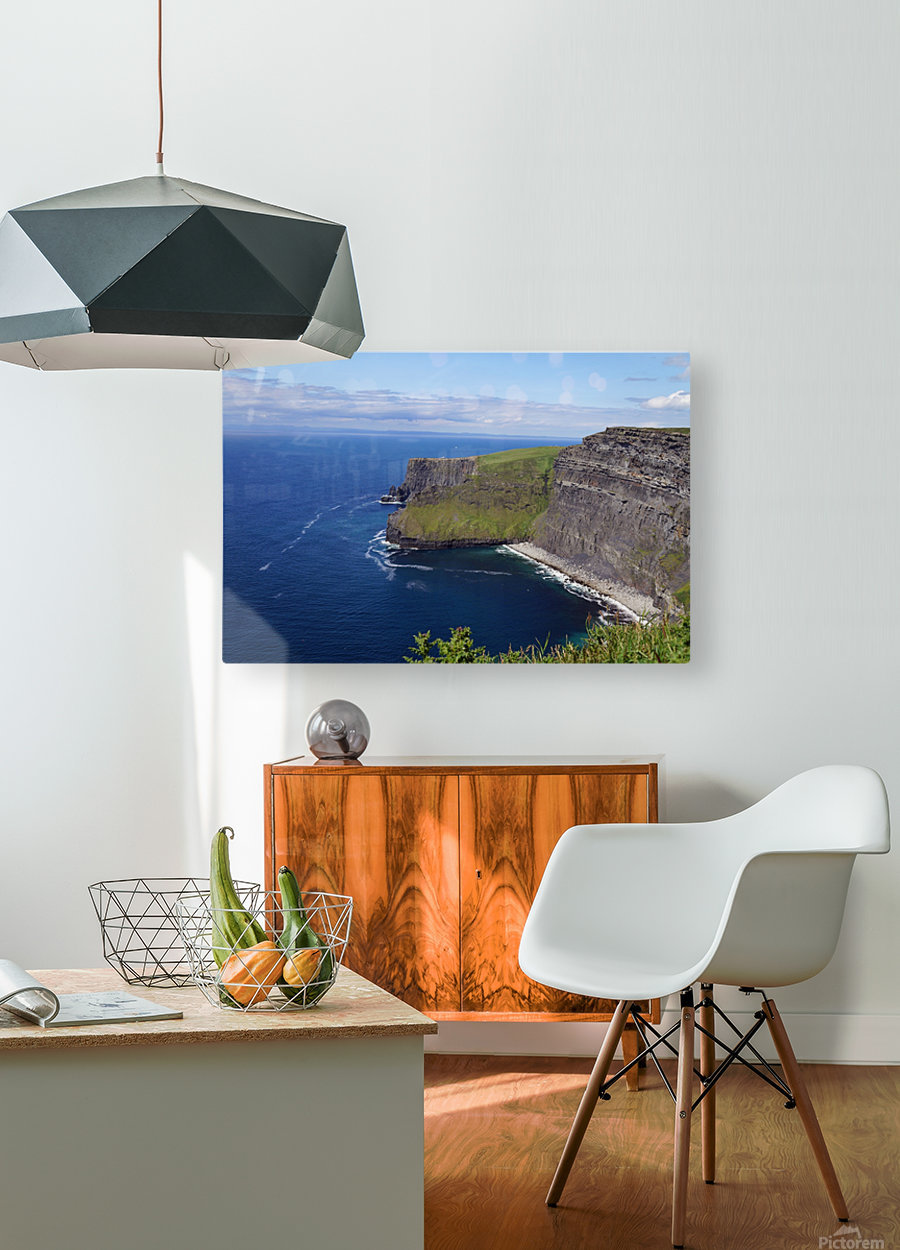 Cliffs of Moher, Ireland  HD Metal print with Floating Frame on Back