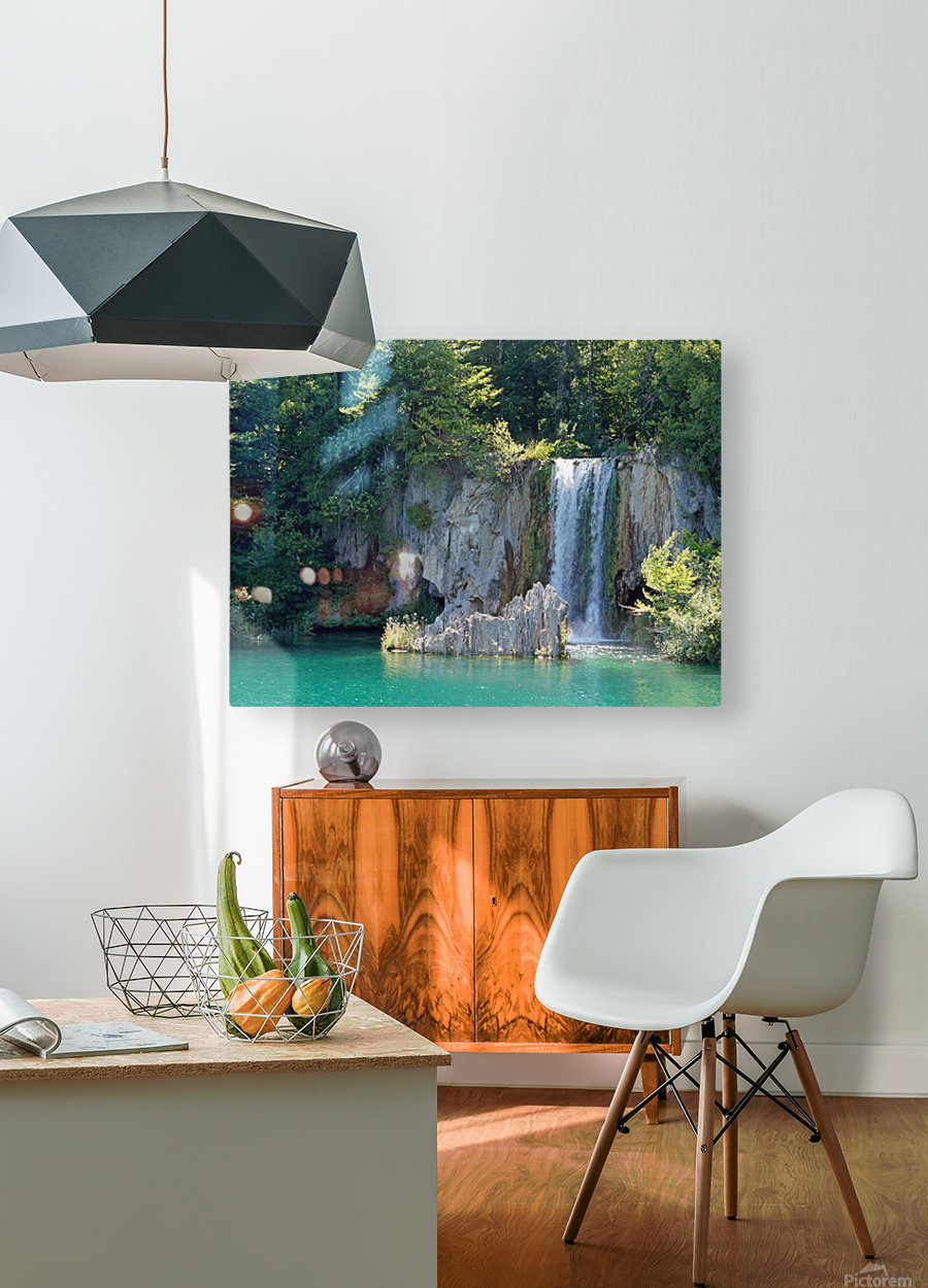 waterfall - Plitvicer lakes-nationalpark  HD Metal print with Floating Frame on Back