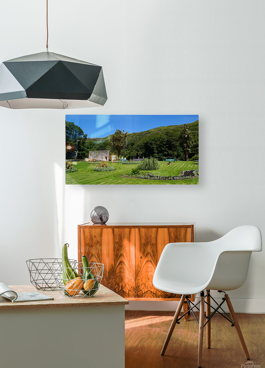 Victorian Walled Garden , Kylemore Abbey, Ireland,  HD Metal print with Floating Frame on Back