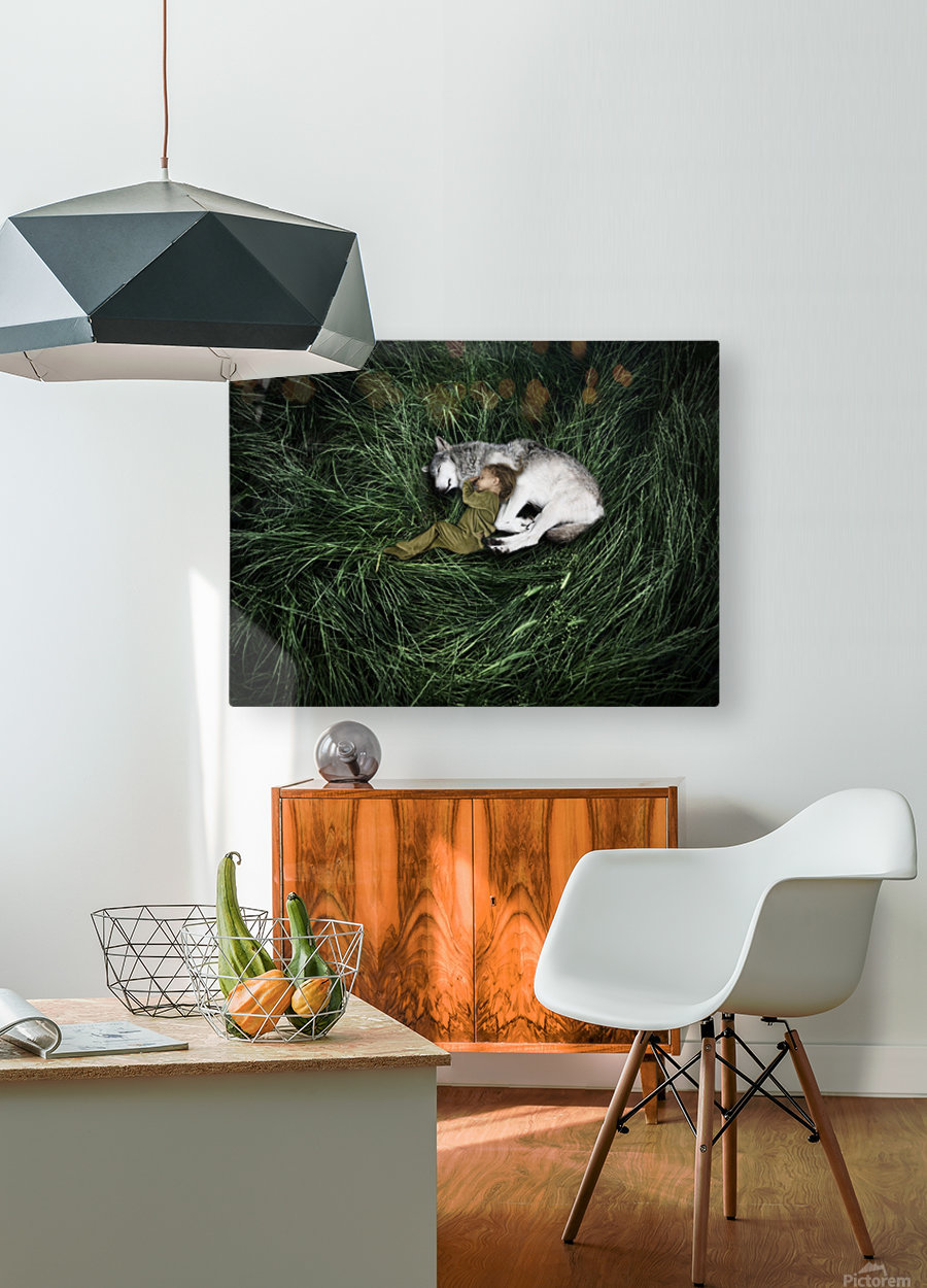 Unison with nature  HD Metal print with Floating Frame on Back
