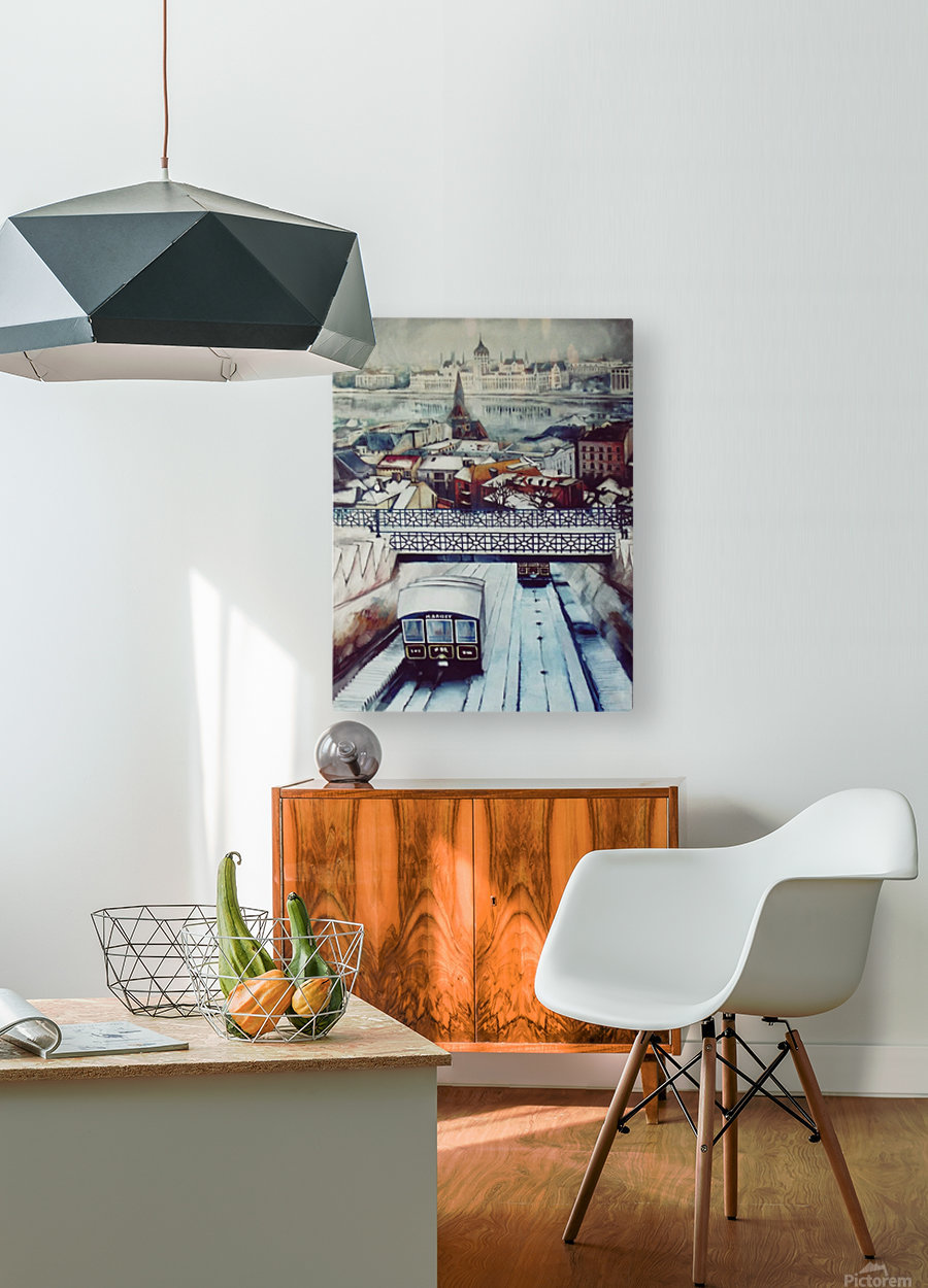 Nostalgia Cable Car in Budapest  HD Metal print with Floating Frame on Back