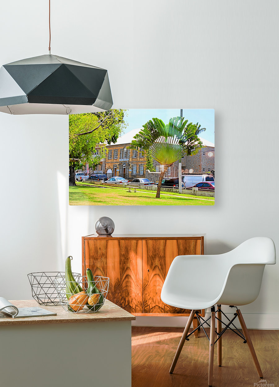 St Kitts Independence Square 3  HD Metal print with Floating Frame on Back
