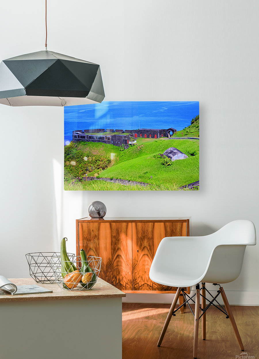 St Kitts Brimstone Hill Bastion  HD Metal print with Floating Frame on Back
