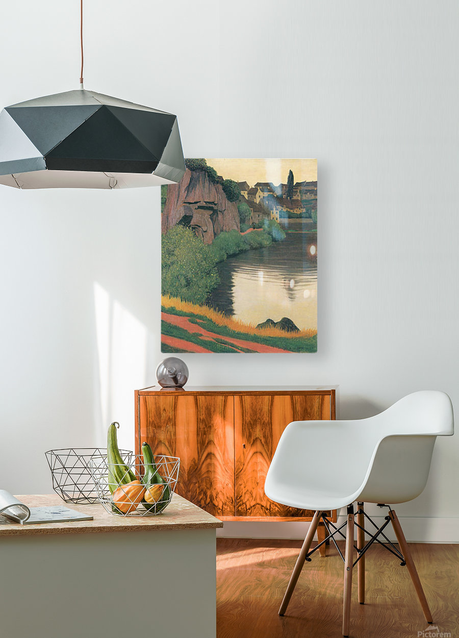 Landscape Semur by Felix Vallotton  HD Metal print with Floating Frame on Back