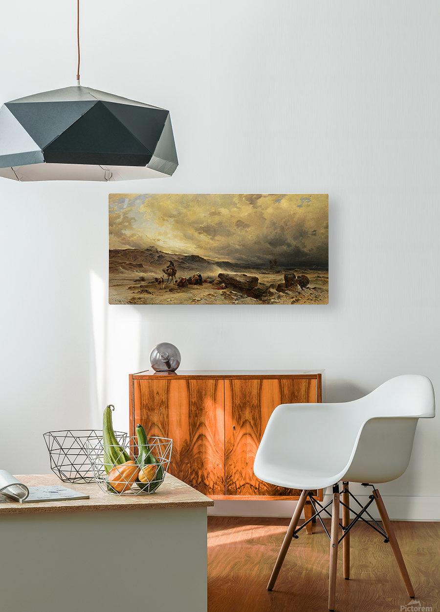 Caravan in a sandstorm  HD Metal print with Floating Frame on Back
