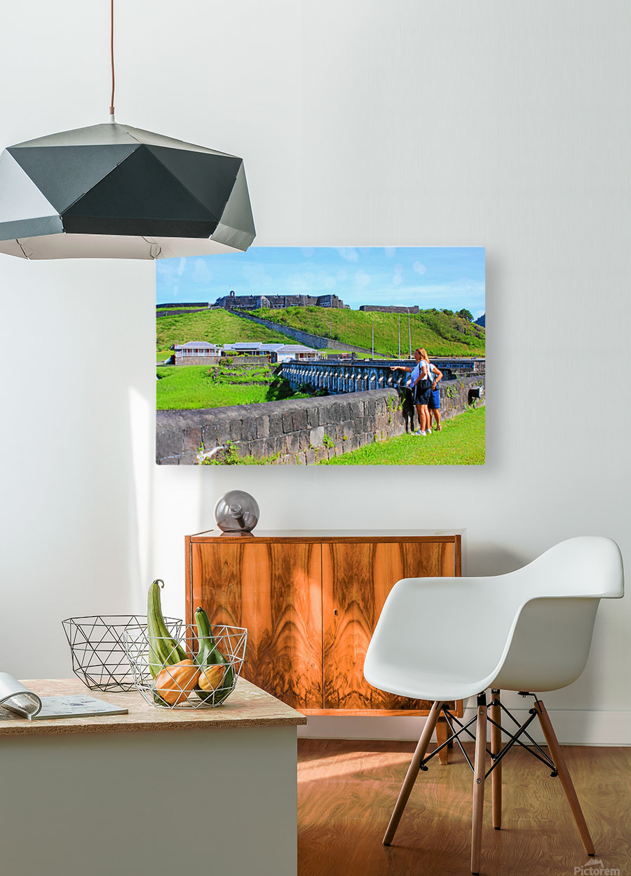 St Kitts Brimstone Hill 2  HD Metal print with Floating Frame on Back