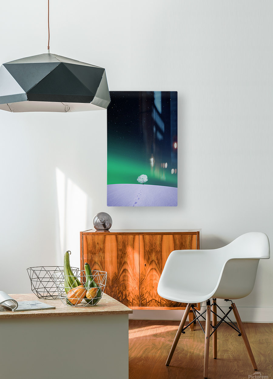 Apple  HD Metal print with Floating Frame on Back