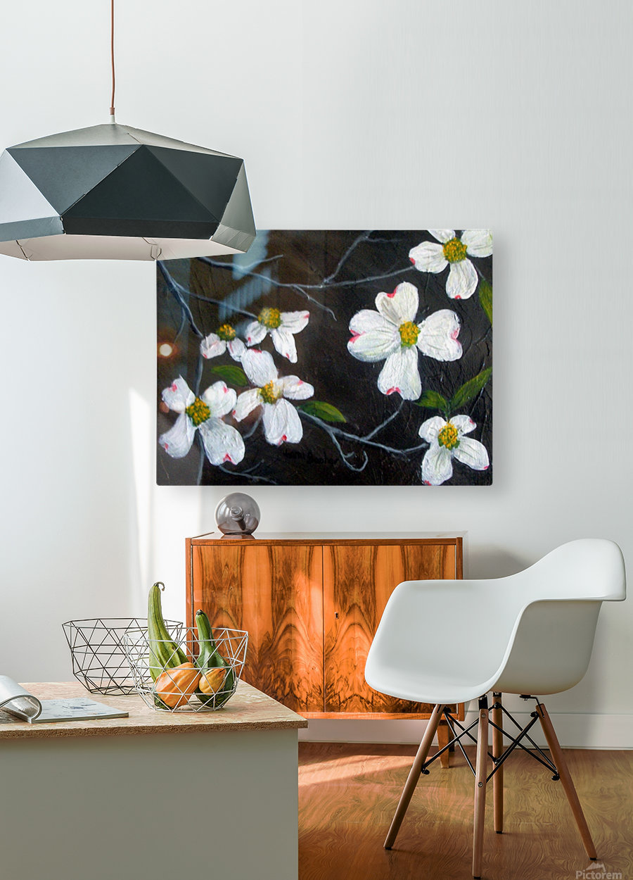 dogwoods  HD Metal print with Floating Frame on Back