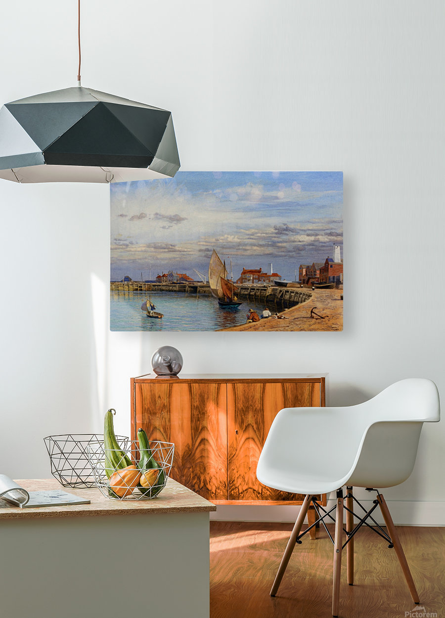 Entrance to Yarmouth Harbour  HD Metal print with Floating Frame on Back