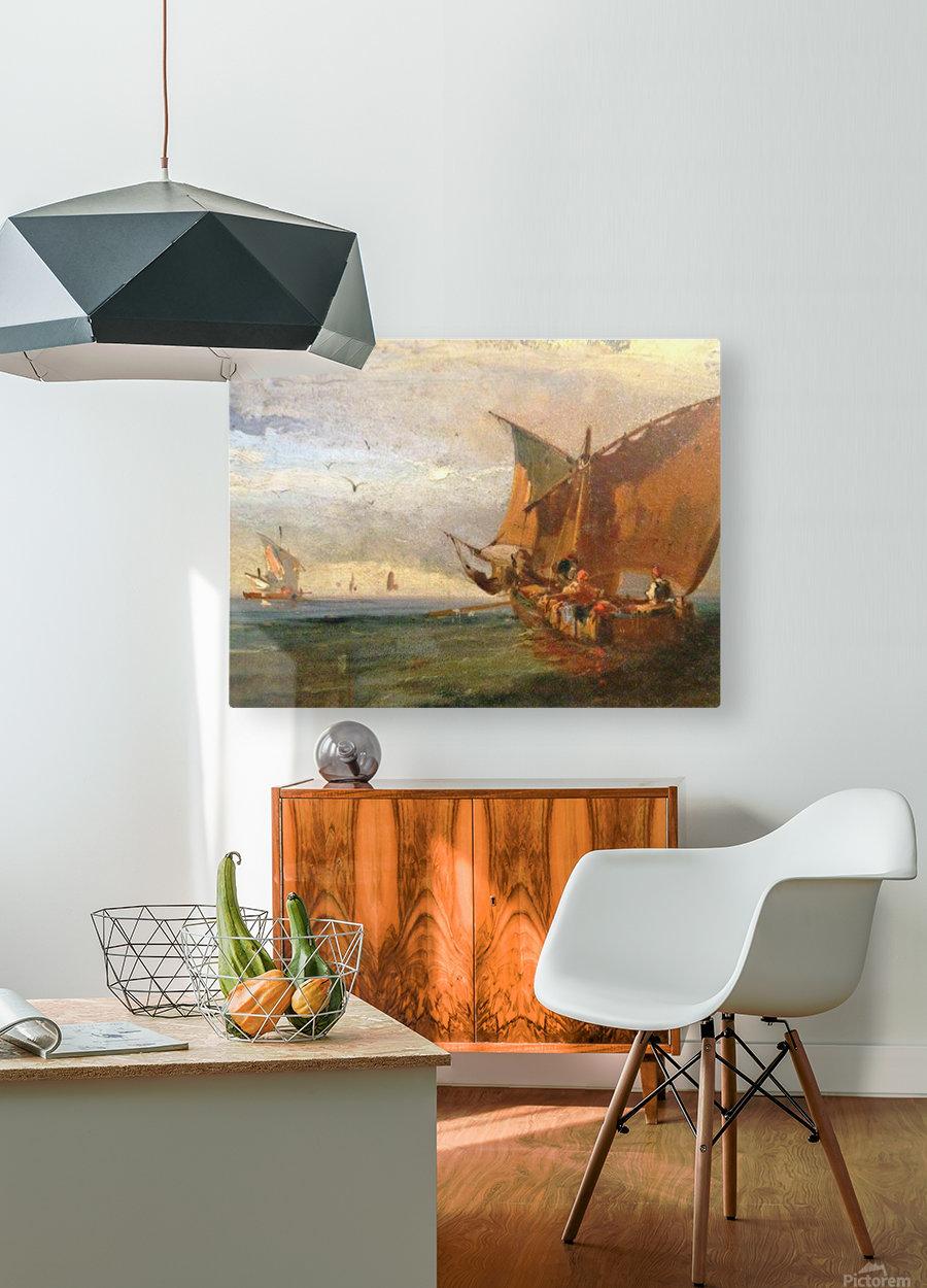 Italians Marine  HD Metal print with Floating Frame on Back