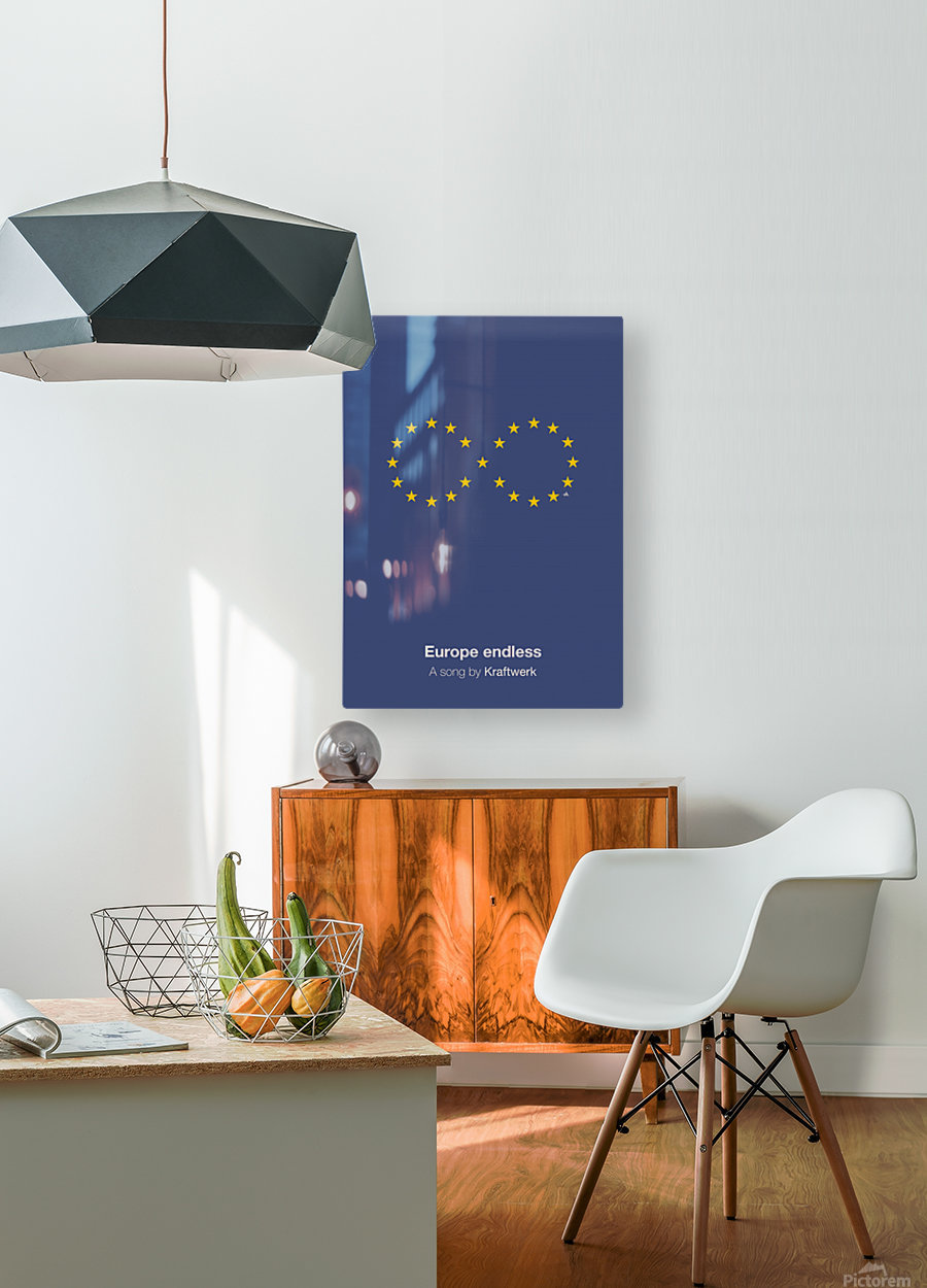 Europe endless  HD Metal print with Floating Frame on Back