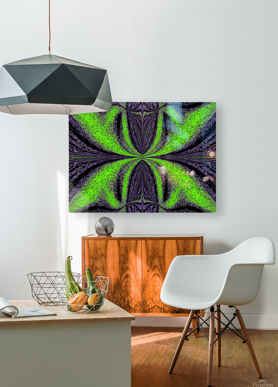 Green Butterfly 3  HD Metal print with Floating Frame on Back