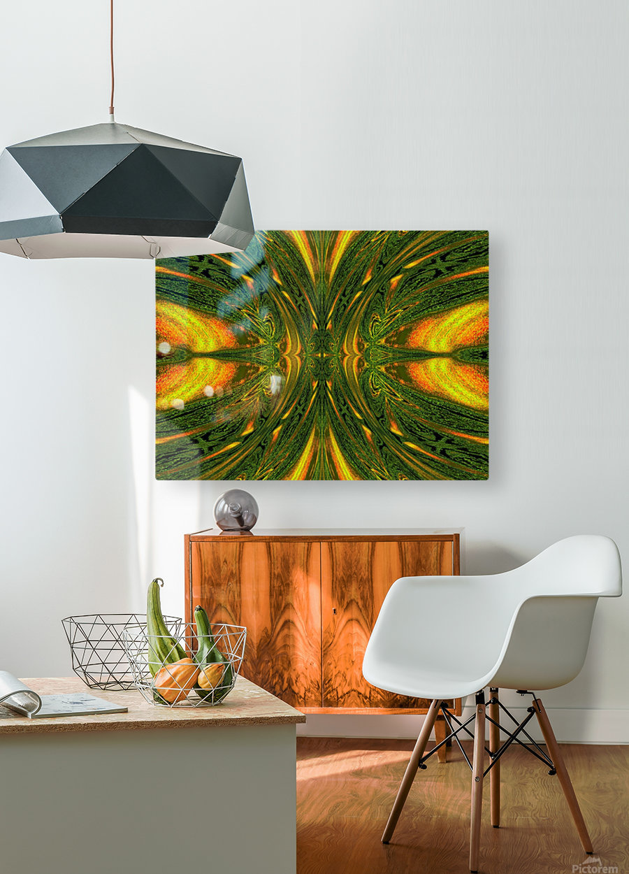 Green Mystical Butterfly 1  HD Metal print with Floating Frame on Back