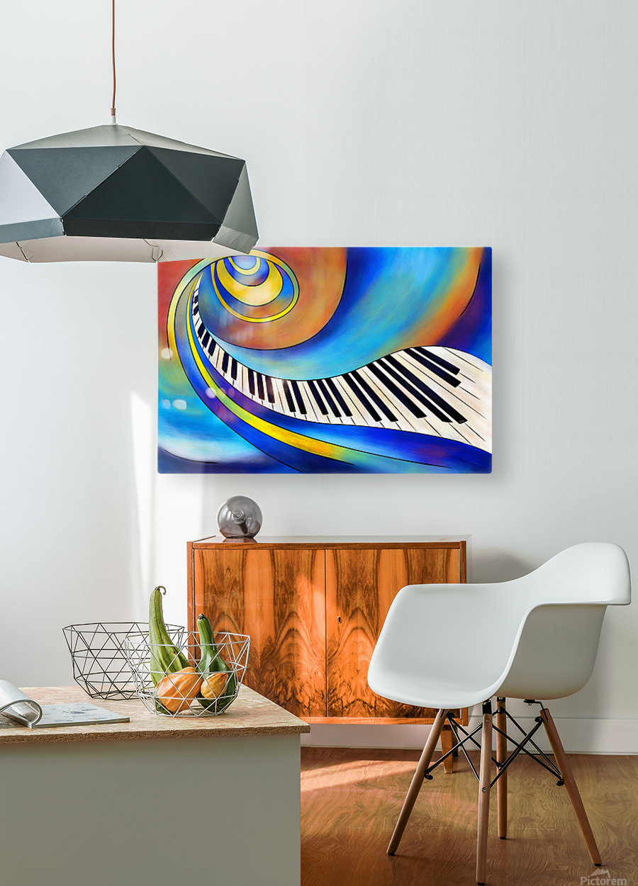 Redemessia - spiral piano  HD Metal print with Floating Frame on Back
