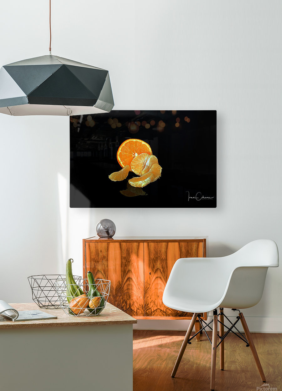 Clemantine  HD Metal print with Floating Frame on Back