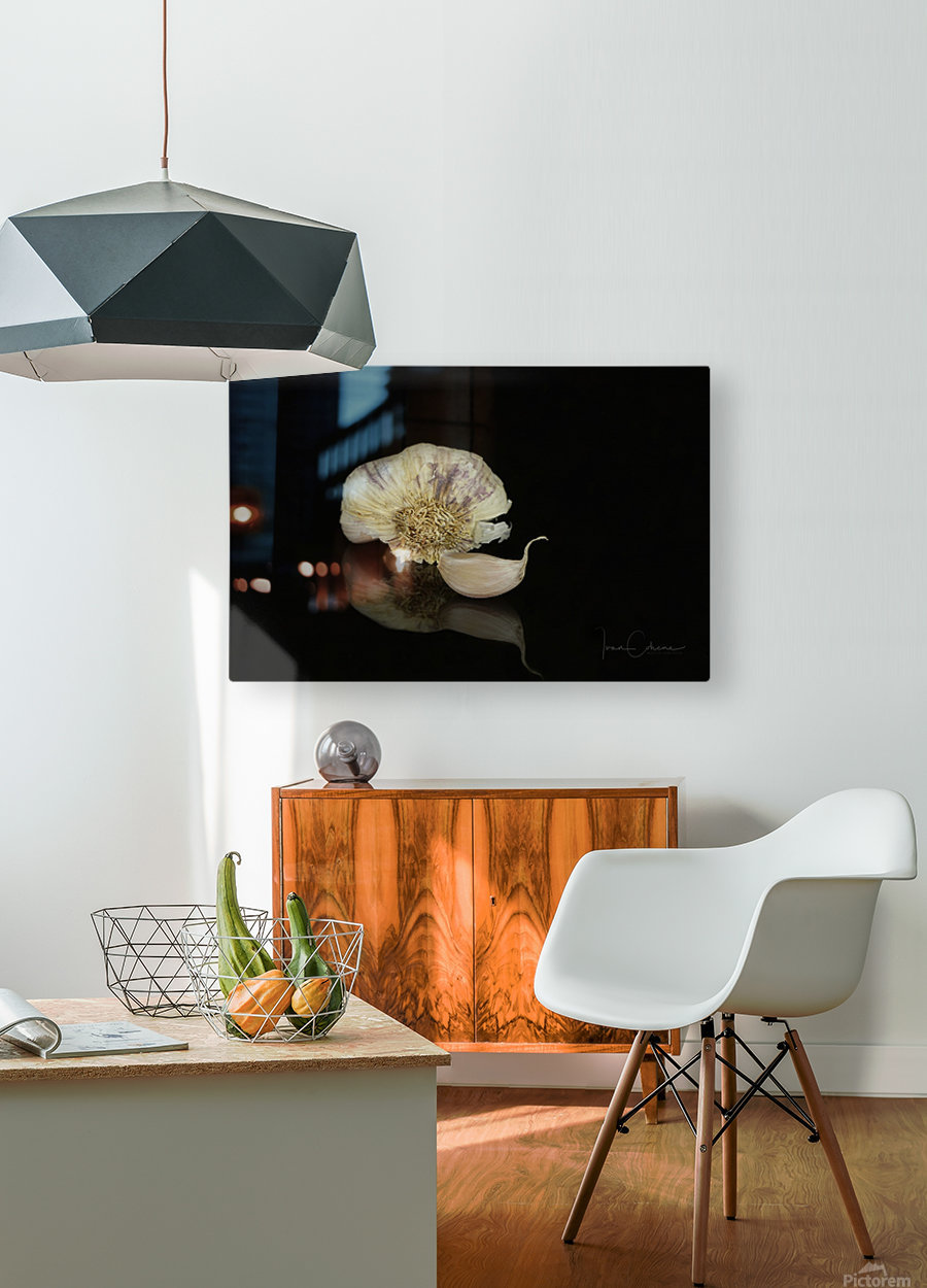 Garlic  HD Metal print with Floating Frame on Back