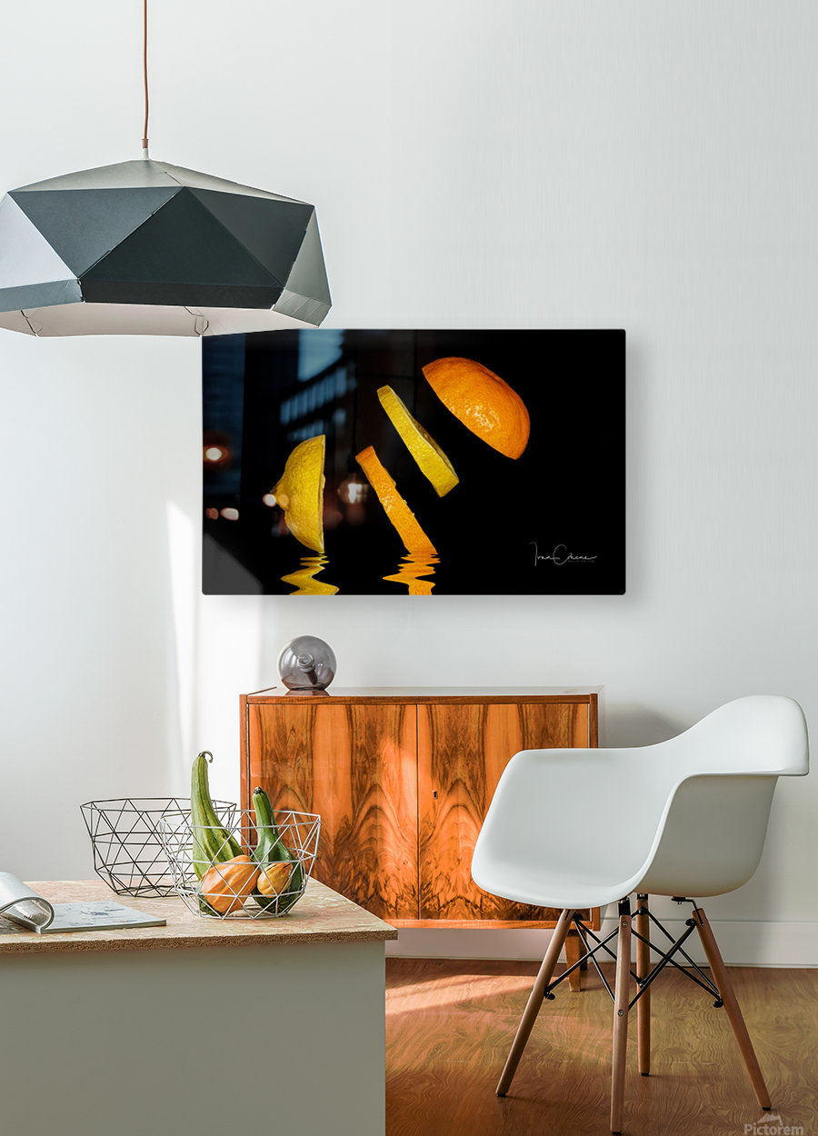Citrus  HD Metal print with Floating Frame on Back