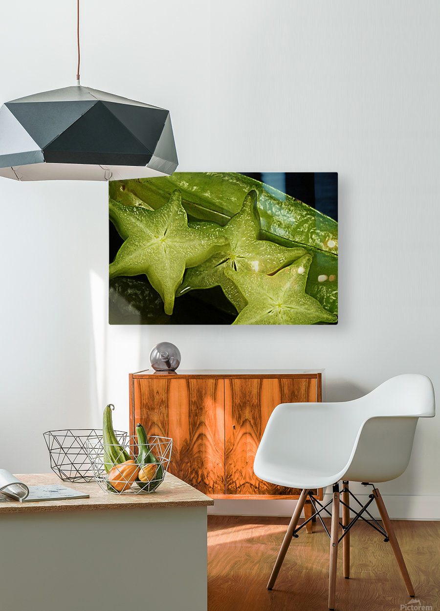 Star Fruit  HD Metal print with Floating Frame on Back