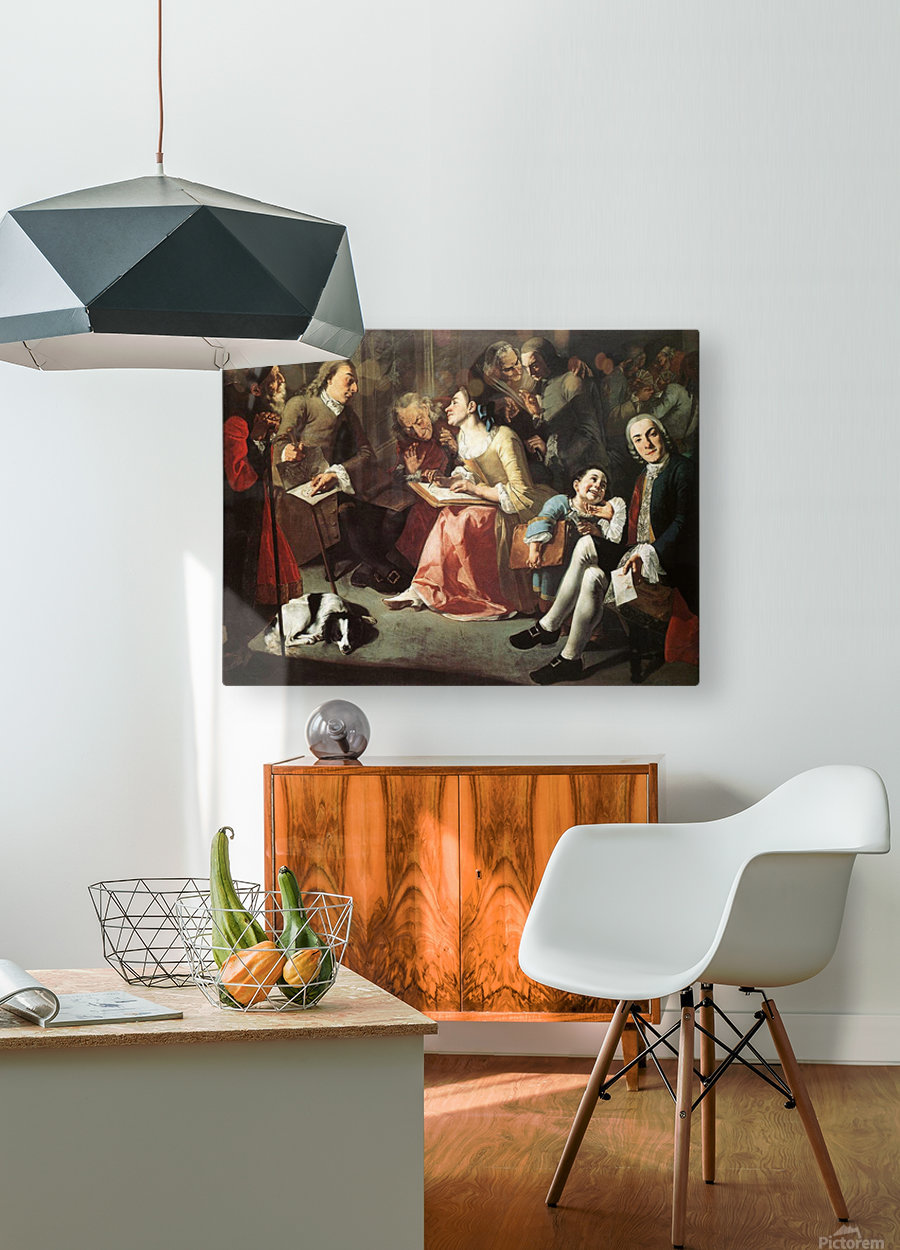 The drawing room 1750  HD Metal print with Floating Frame on Back