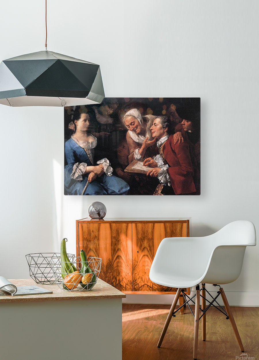 The sitting, 1754  HD Metal print with Floating Frame on Back