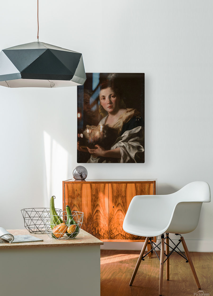 Judith with the head of Holofernes  HD Metal print with Floating Frame on Back