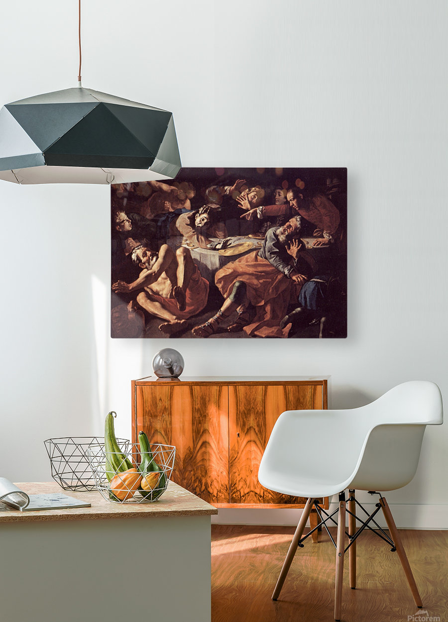 The death of Aaron  HD Metal print with Floating Frame on Back