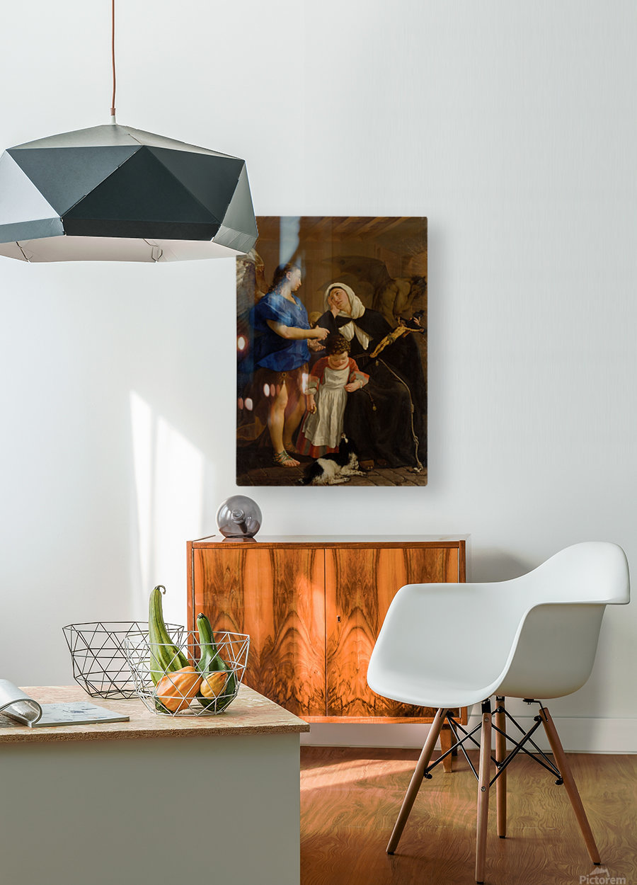 Saint Margaret of Cortona  HD Metal print with Floating Frame on Back