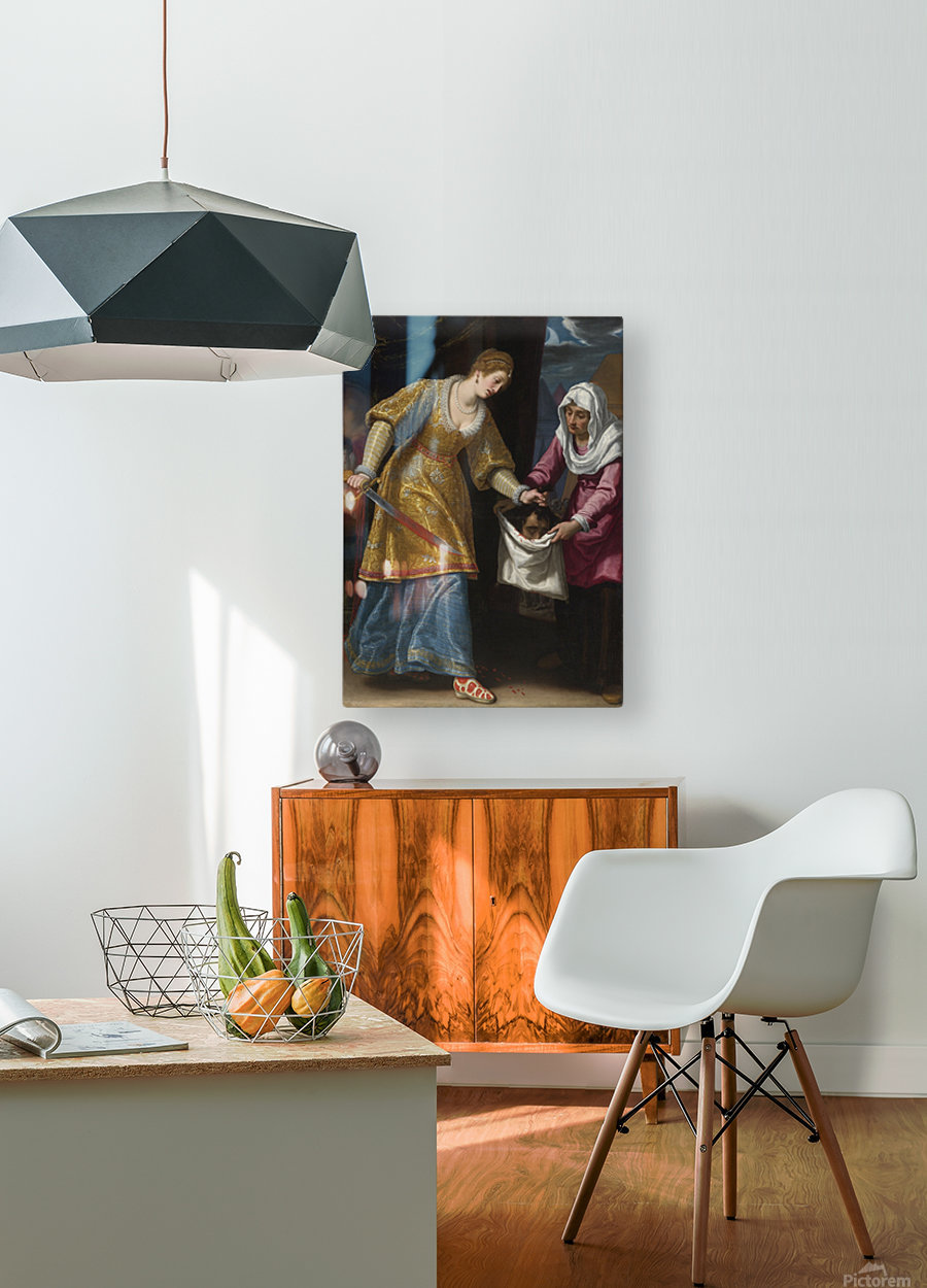 Judith and Holofernes  HD Metal print with Floating Frame on Back