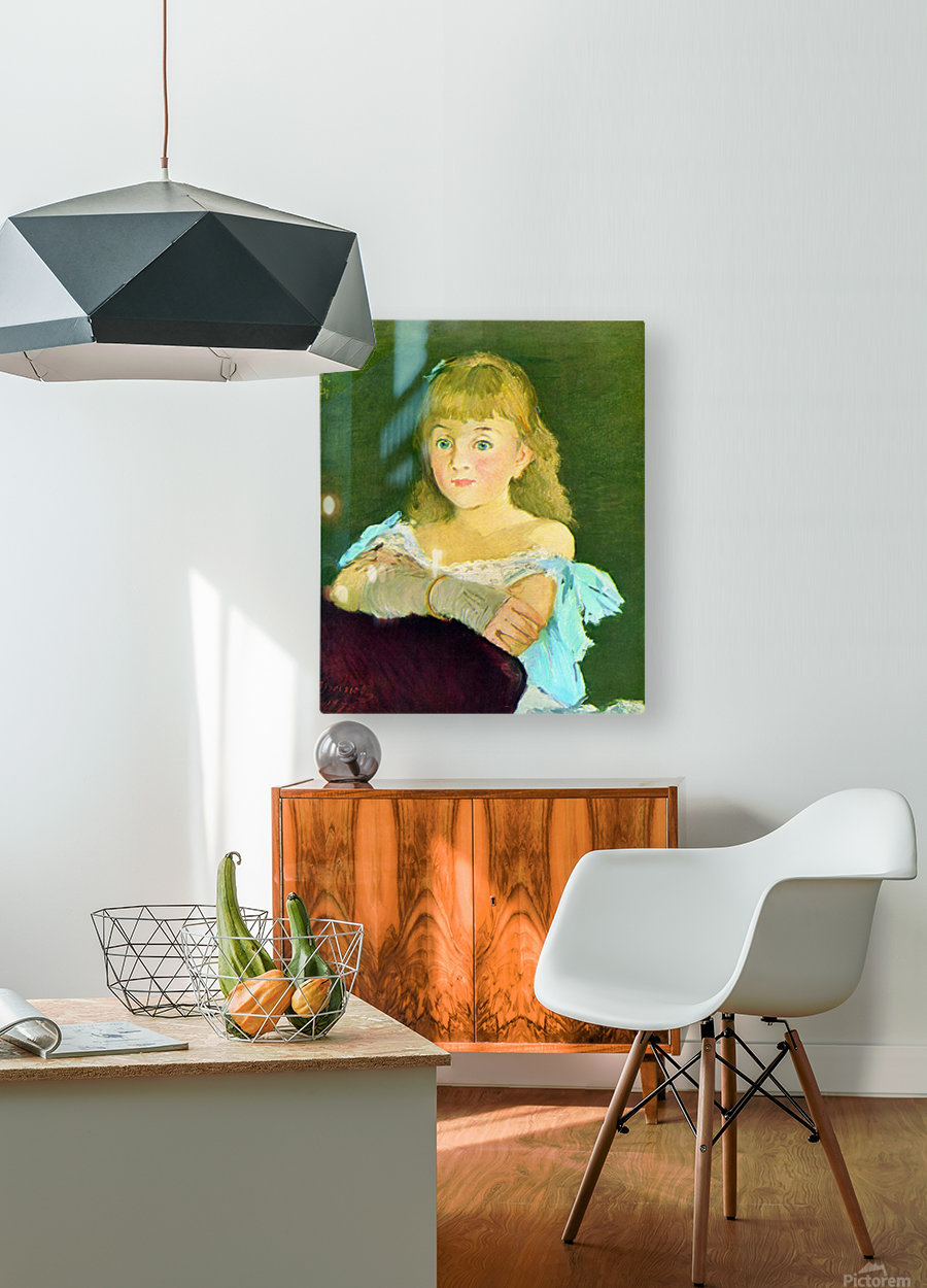 Portrait of Lina Campineanu by Manet  HD Metal print with Floating Frame on Back