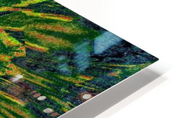 Green Flower 4 HD Sublimation Metal print