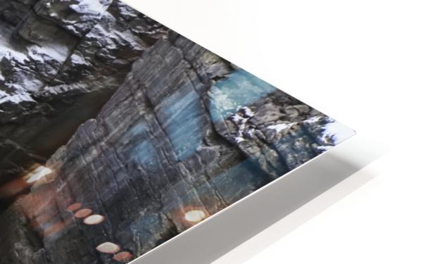 Athabasca Falls in winter, Jasper National Park; Alberta, Canada HD Sublimation Metal print