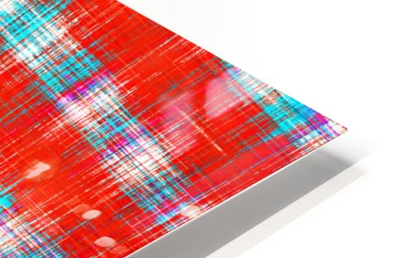 plaid pattern abstract texture in in red blue pink HD Sublimation Metal print
