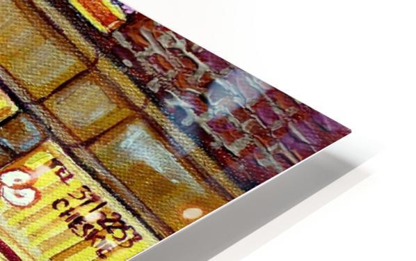CHESKIES BAKERY RUE BERNARD MONTREAL STREET SCENE HD Sublimation Metal print