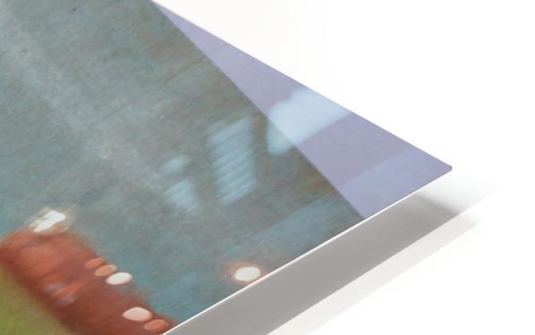 White mouse HD Sublimation Metal print